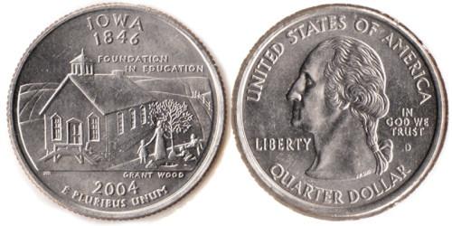 25 центов 2004 D США — Айова UNC