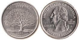 25 центов 1999 D США — Коннектикут