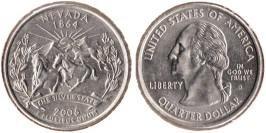 25 центов 2006 D США — Невада — Nevada UNC