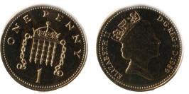 1 новый пенни 1989 Великобритания