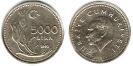 5000 лир 1993 Турция