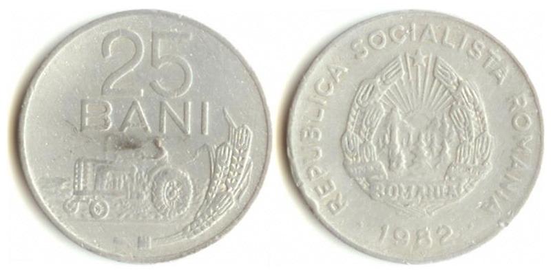25 bani 1982 цена 10 f