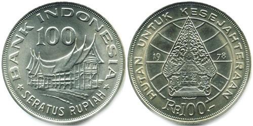 100 рупий 1978 Индонезия — Лес для процветания