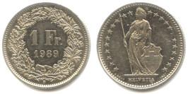 1 франк 1989 Швейцария
