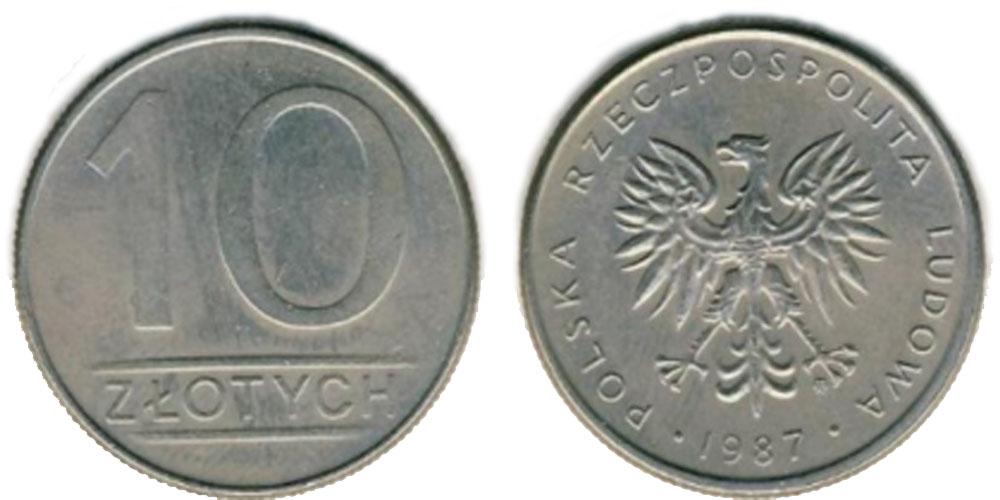 20 злотых 1987 цена список монет 10 рублей города россии