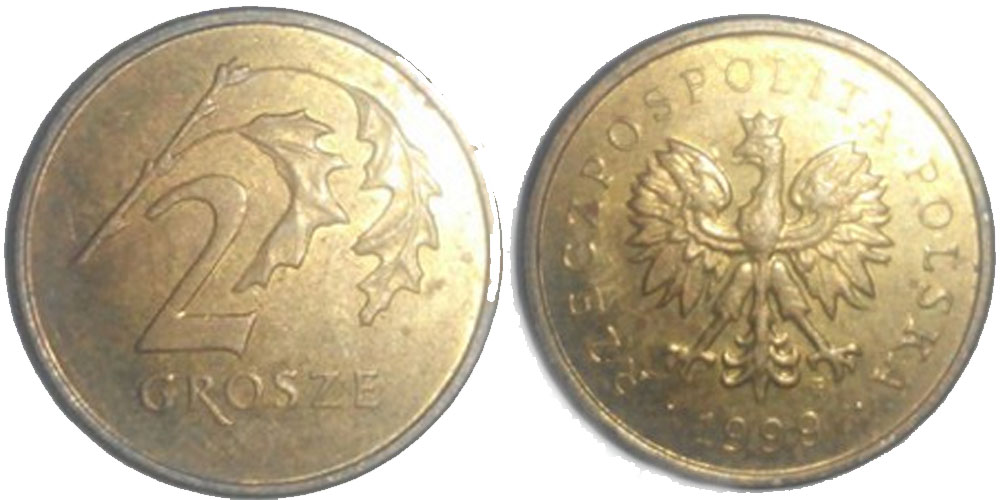 2 гроша польские 1932 года 1 копейка 1925 года