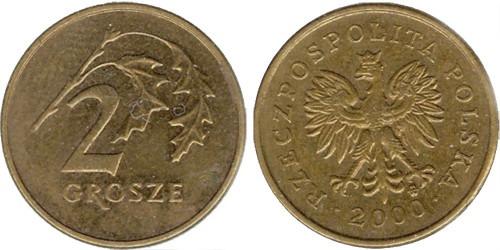 2 гроша 2000 Польша