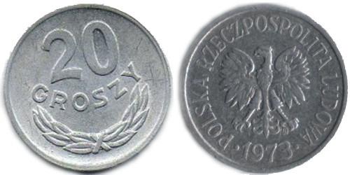 20 грошей 1973 Польша