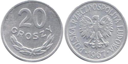 20 грошей 1967 Польша