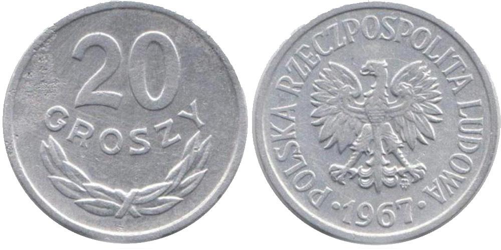 20 groszy 1967 года цена 1 рубль 1613 1913 цена