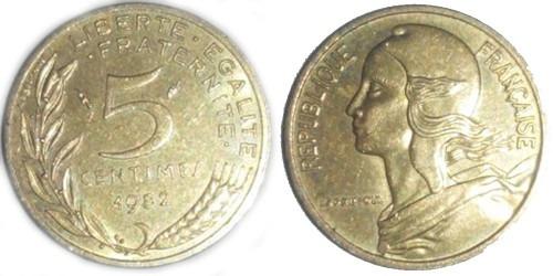5 сантимов 1982 Франция