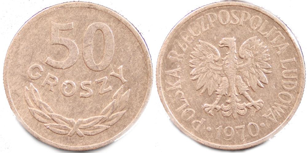 Цена 50 грошей 1970 г продажа купюр 1961 года