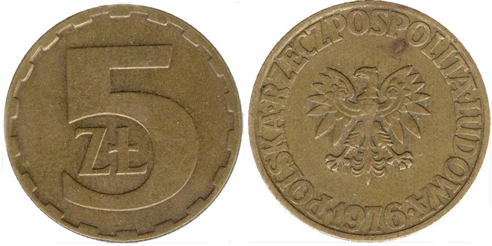 5 злотых польша заготовки для чеканки монет