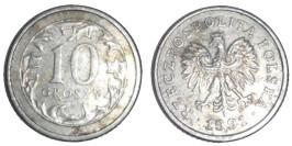 10 грошей 1991 Польша