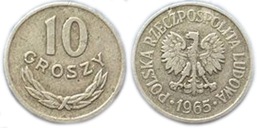 Монета 50 groszy 1965 цена монета 50 копеек 1968 года стоимость