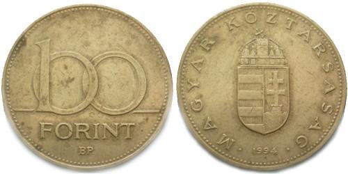 100 форинтов 1994 Венгрия