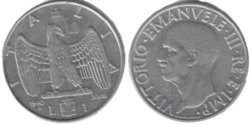 1 лира 1940 Италия — магнитная