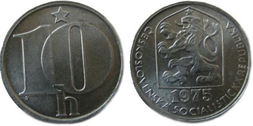 10 геллеров 1975 Чехословакии