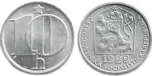 10 геллеров 1988 Чехословакии