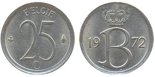 25 сантимов 1972 Бельгия (VL)