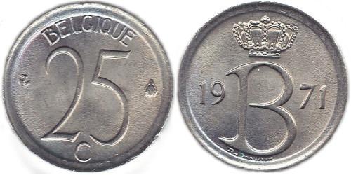 25 сантимов 1971 Бельгия (FR)