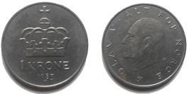 1 крона 1983 Норвегия