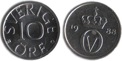 10 эре 1988 Швеция