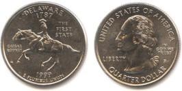 25 центов 1999 P США — Делавэр UNC