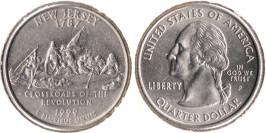 25 центов 1999 P США — Нью-Джерси UNC