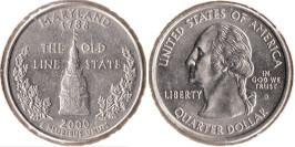 25 центов 2000 D США — Мерилэнд UNC
