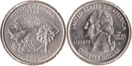 25 центов 2000 D США — Южная Каролина UNC