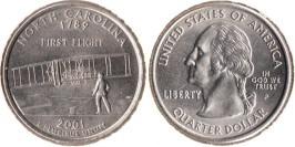 25 центов 2001 P США — Северная Каролина UNC