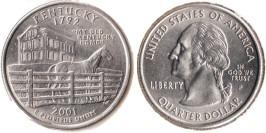 25 центов 2001 P США — Кентукки UNC