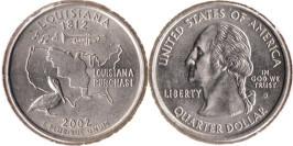 25 центов 2002 D США — Луизиана