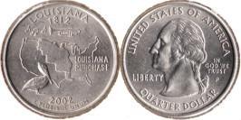 25 центов 2002 P США — Луизиана