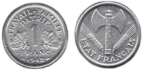 1 франк 1942 Франция