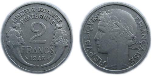 2 франка 1948 Франция — В