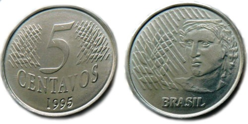 5 сентаво 1995 Бразилия