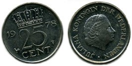25 центов 1978 Нидерланды