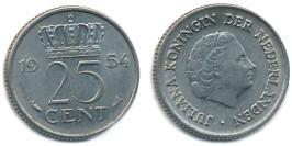 25 центов 1954 Нидерланды