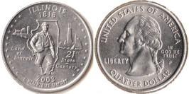 25 центов 2003 P США — Иллинойс