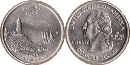 25 центов 2003 D США — Мэн — Maine