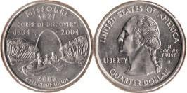 25 центов 2003 D США — Миссури