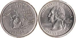 25 центов 2004 P США — Мичиган