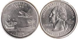 25 центов 2004 P США — Флорида UNC