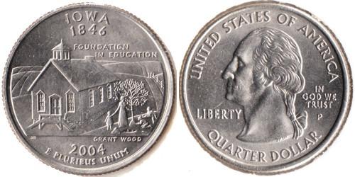 25 центов 2004 P США — Айова UNC