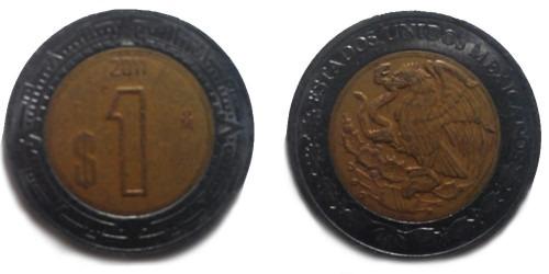 1 песо 2011 Мексика