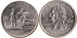 25 центов 2005 D США — Калифорния