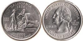 25 центов 2005 P США — Калифорния — California