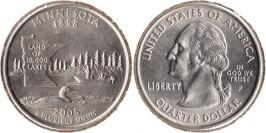 25 центов 2005 P США — Миннесота